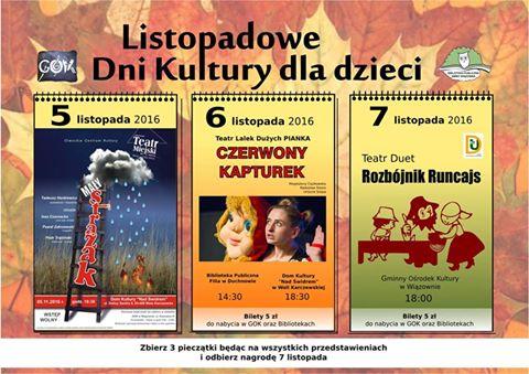 Listopadowe Dni Kultury dla Dzieci