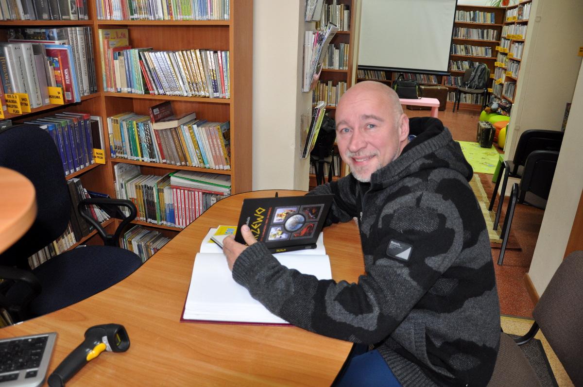 Spotkanie z Łukaszem Wierzbickim w Gliniance